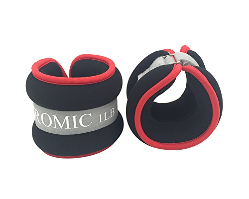 PROMIC-Ankle-Wrist-Weights-Set-With-Adjustable-StrapRedSet-of-2