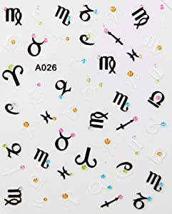 GGSELL Letter design stereoscopic 3D nail art nail decals nail stickers