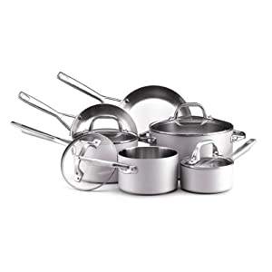 Best Cookware Set - Anolon Chef Clad Stainless Steel 10-Piece Cookware Set Review