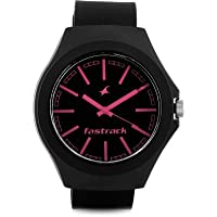 Fastrack Analogue Black/Pink Dial Men's Watch - 38004PP05