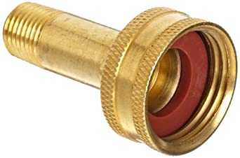 Anderson Metals Brass Garden Hose Fitting Swivel 3 4 Female Hose Id X 1 2 Male