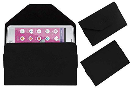 Acm Premium Pouch Case For Iball Andi Uddaan Flip Flap Cover Holder Black  available at amazon for Rs.179