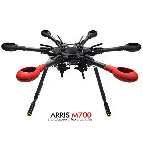 ARRIS M700 Foldable Carbon Fiber Hexacopter Frame W/ Retractable Landing