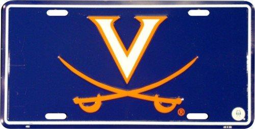 University of Virginia NCAA Tin License Plate