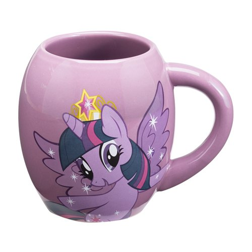 Vandor 42361 My Little Pony Twilight Sparkle 18 oz Oval Ceramic Mug, Multicolor (My Little Pony Coffee Cup compare prices)