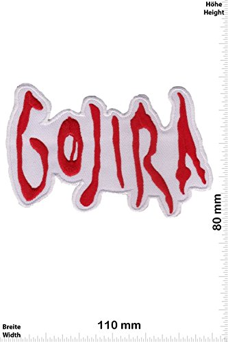 Patch - Gojira - white - red - Death-Metal-Band - MusicPatch - Rock - Chaleco - toppa - applicazione - Ricamato termo-adesivo - Give Away
