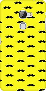 AMEZ designer printed 3d premium high quality back case cover for Letv Le Max (yellow moustache muchi beard)