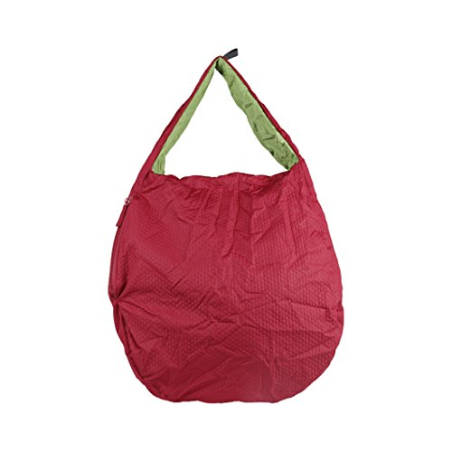 mandarina-duck-womens-ladies-foldable-shopping-bag-one-size-red-lime-green