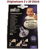 Braun T1010 / 2020 Ersatzschutzkappen für Braun Thermoscan Thermometer, 80 Stück