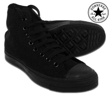 Converse All Stars Mono Classic High Top Boot (Black) - (8 UK)
