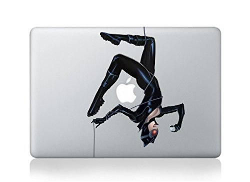 MacBook Cat Woman with Diamond Apple Vinyl Decal Sticker For MacBook Pro/Air 13""