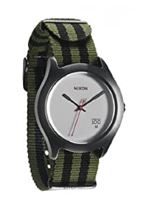 Unisex Watch Nixon A344-151 Stainless Steel Case Quartz Silver Dial Nylon Strap