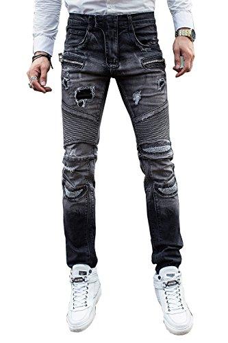 COUSIN CANAL Pantaloni ragazzi Straigt Denim Jeans Biker 023 40