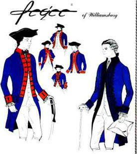 1776 Men's Military or Civilian Coat Pattern