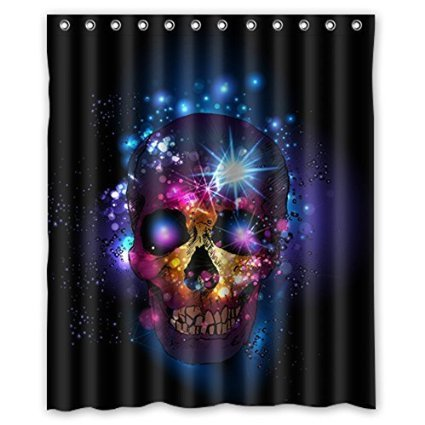 CozyBath Sugar Skull Waterproof Polyester Fabric