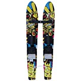 Rave Kid's Rim Trainer Water Skis (Yellow Black) by Rave