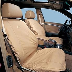 Genuine BMW Cotton Poly Seat Covers - TAN - 1 Series 2008-2013/ 3 Series Coupes 2007-2013 (EXCEPT 2011-2013 335is Coupe)/ 3 Series Sedans 2007-2011/ 3 Series Sport Wagons 2007-2012