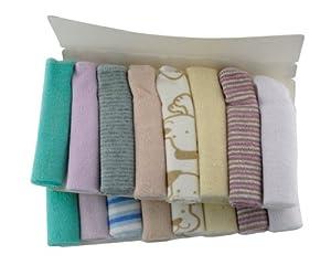 BONAMART ® 8 X baño toalla baños baberos alimentación limpiar paño Toallita algodón Para Bebé 23X23cm <style Stochastic> marca BONAMART - Bebe Hogar