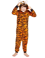 Hooded Tiger Fleece Soft & Cosy Onesie