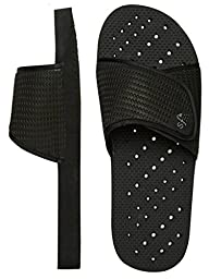 Showaflops Boy\'s Antimicrobial Shower & Water Sandals - Black Slide 4/5