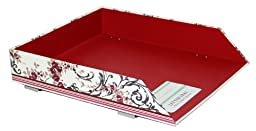 Laura Ashley Stackable Letter Tray, Palace Garden Collection, Single Unit (751-7)