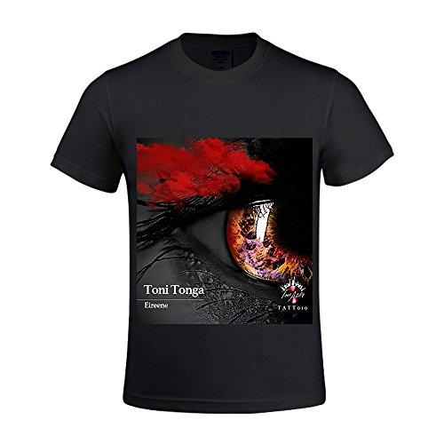 Eireene Toni Tonga Men Crew Neck Mens Big And Tall T Shirts Black