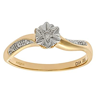 Ariel Women's 9ct Diamond Accent Ring