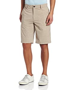 Buy Adidas Golf Mens Climalite Neutral Plaid Shorts by adidas