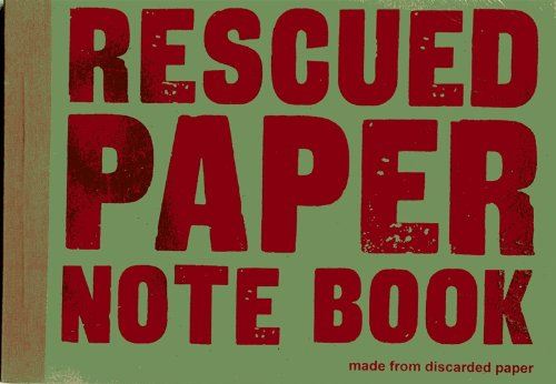 Image of Rescued paper notebook - medium - green