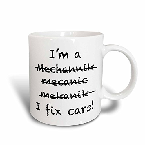 3dRose mug_193251_1 Im a Mechanic I Fix Cars, Ceramic Mug, 11-Ounce (Mechanic Pics compare prices)
