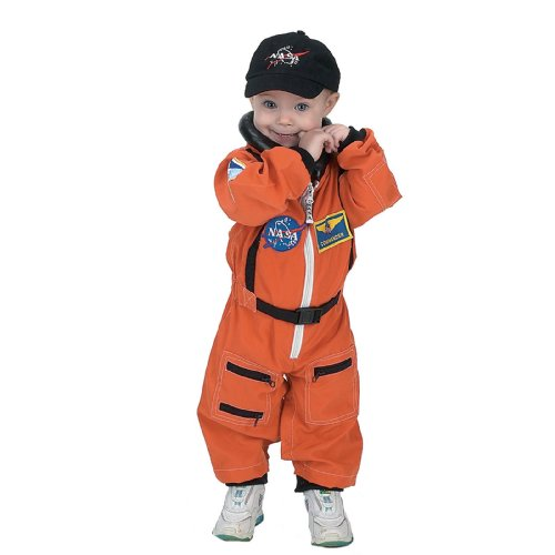 Lets Party By Aeromax NASA Jr. Astronaut Suit Orange Toddler Costume - 18Mnths
