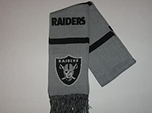 OAKLAND RAIDERS 100% Acrylic WINTER SCARF 7 Wide 64 Long with Team Logo & Colors by Forever