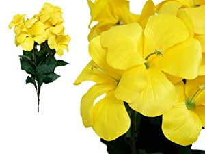 72 pcs Silk PRIMROSE Flowers for Wedding Arrangements - 4 bushes - Yellow