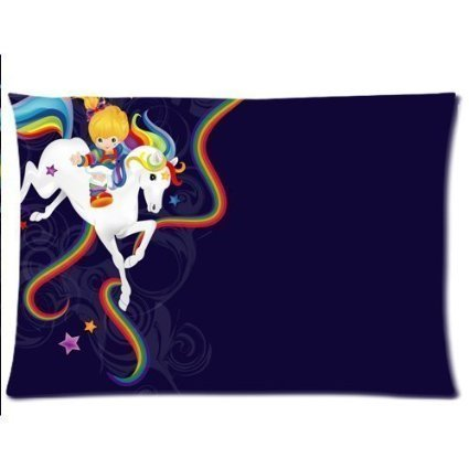 rainbow-brite-and-starlite-custom-cotton-polyester-soft-rectangle-pillow-case-taies-doreillers-cover