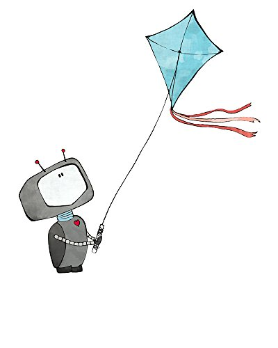 Robot Nursery Print - Flying a Kite (Epson Robot compare prices)