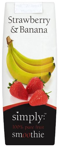 Simply Strawberry and Banana Smoothie 250 ml (Pack of 12)
