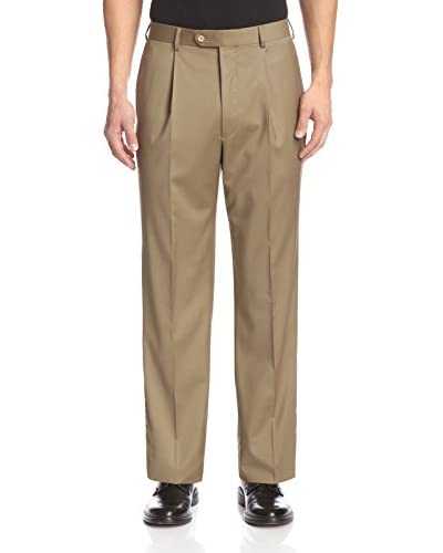 Coppley Men's Single Pleat Super 130's Loro Piana Wool Dress Pant