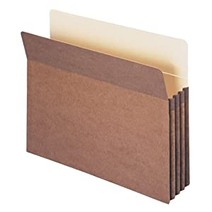 "Smead File Pocket, Straight-Cut Tab, Guide Height, 3-1/2"" Expansion, Letter Size, Redrope, 50 per Box (73805)"
