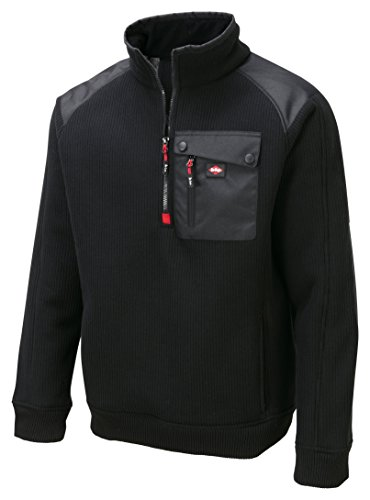 Lee Cooper Men's a Sherpa-Giacca, Nero
