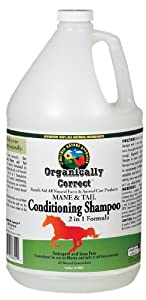 Organically Correct Horse Mane-N-Tail Conditioning Cream and Rinse, 1-Gallon