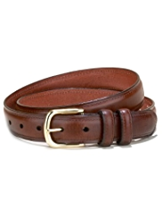 Leather Rectangular Buckle Chino Belt