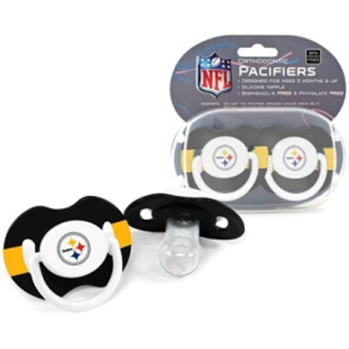 BSS - Pittsburgh Steelers NFL Baby Pacifiers (2 Pack)