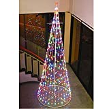 "Homebrite 144"" Prelit Christmas Tree, 61377, Multi-color LED Outdoor"