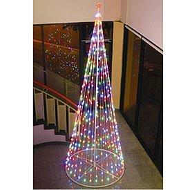 com homebrite 120 prelit artificial christmas led outdoor cone tree. Black Bedroom Furniture Sets. Home Design Ideas