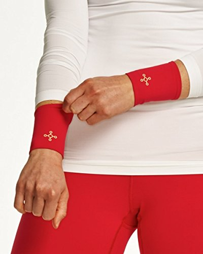 Tommie Copper - Med Pomegranate Women'S Wrist Compression, 1 Pair