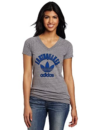 MLS San Jose Earthquakes Trefoil Logo Tri-Blend V-Neck Short Sleeve Ladies T-Shirt by adidas
