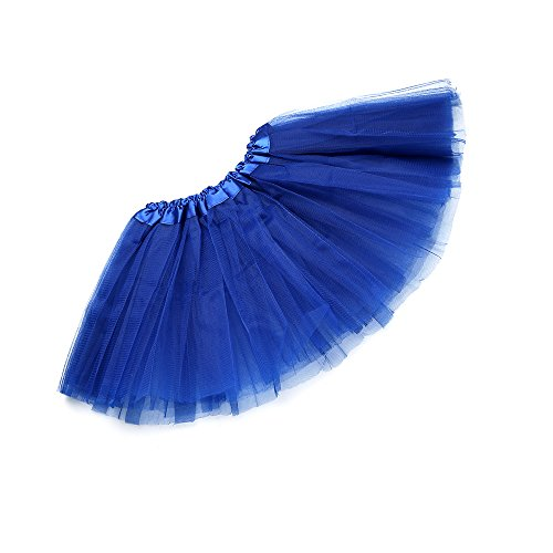 Anleolife 12'' Ballet Birthday Tutu Dress Cheap Tutu Skirt Ballet Dance Mini Skirts(deep blue)