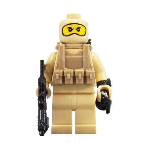 U.S. Navy Seal (Tan Balaclava) - miniBIGS Custom Minifigure (Navy Seals Lego compare prices)
