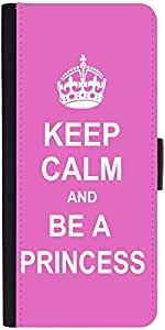 Snoogg Keep Calm Princess Designer Protective Phone Flip Case Cover For Obi Worldphone Sf1
