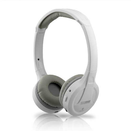 White Wireless Bluetooth Version 3.0 True Stereo Sound Headphones Headset For Motorola Droid Ultra Xt-1080